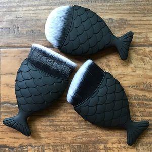 Other - Mermaid Tail Makeup Brushes Black Matte